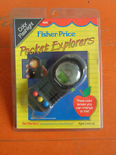 FISHER-PRICE POCKET EXPLORERS TORCIA COLORE COLOR FLASHLIGHT 1988 NUOVO VINTAGE