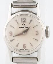 Vintage Women's Omega Stainless Steel Hand-Winding Watch w/ Bonklip Band