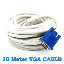10 Meter 15 Pin Male VGA Cable Quality Laptop To LCD LED TV Monitor Projecttor