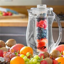 Babz Fruit Infusion Pitcher Jug 2.7L With Ice Core  Flavour Infuser Water Party