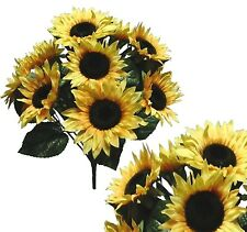 "10 Country Sunflower 21"" Bouquet Bridal Party Home Decor Artificial Silk Flower"