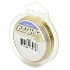 Artistic Wire Silver Plated Gold 22 Gauge 10 yard 41938 Round Shiny