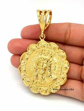 14K YELLOW GOLD FILLED LARGE GOD JESUS PENDANT ONLY