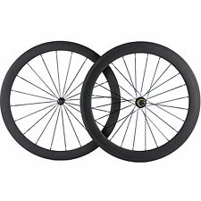 Full Carbon Fibre Front 50mm Carbon Wheelset Clincher Rear 60mm Carbon Road Whee