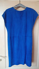 Jimmy Choo for H&M electric blue suede dress VGUC S fits US 4-6