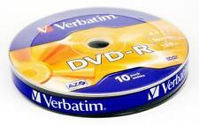 10 DVD-R VERBATIM 4,7GB 16X 120min confezione da 10 cod.43729 Matt Silver Grade