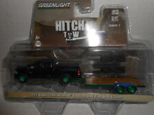 Greenlight Green Machine Hitch Tow 2015 Ram 1500 MOPAR Flat Bed Trailer Chase TH