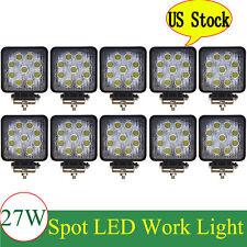 10X 27W LED Work Light Bar Flood Square 12V 24V Offroad Truck 4x4 Boat SUV Light