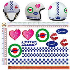 adesivi casco vespa love you sticker helmet vespa italian flag 13 pz.