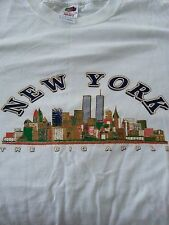 New York Skyline w/Twin Towers The Big Apple T Shirt L