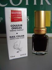 MASTERS COLORS COULEUR à ONGLES VERNIS PARFAIT 40 ROUGE NOIR red black Guinot