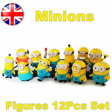 Cute Despicable Me 2 Minions Movie Character Figures Cake Toppers Toy Gift 12pcs