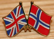 UK & NORWAY FRIENDSHIP Flag Metal Lapel Pin Badge Great Britain
