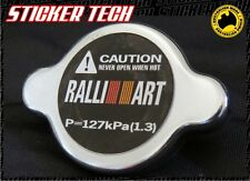 RALLIART BLACK RADIATOR CAP STICKER DECAL SUITS MITSUBISHI MIRAGE EVO X V GSR