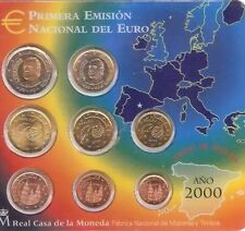 Spain Euro Coin Set 2000 Official All Coins In Blister 1cent To 2€ New BUNC KMS