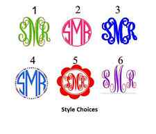 "Qty. 3 - 4"" DIY Initial Monogram Iron On You Pick Color and Style SHIPS FREE!!!"