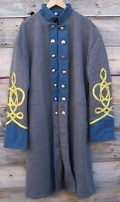 civil war confederate infantry frock coat with 4 row braids 46