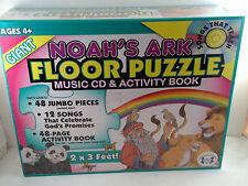 Noah's Ark Floor Puzzle Music CD and Activity Book Twin Sisters 2 x 3 Ft 48 Pcs