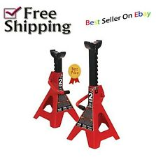 "2 Piece 2 Ton Jack Stand Adjustable 11"" - 17"" RV  Stabilize Set Durable Locking"