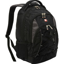 SwissGear Travel Gear Bungee Backpack - Black/Grey Laptop Backpack NEW