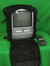 "Toshiba MD9DL1 9"" CRT Color TV +Built-in DVD Player AC DC +Remote & Travel Case!"