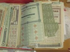 25 ALL DIFFERENT OLD STOCK+BOND CERTIFICATES SETS ALL ANTIQUE FOREIGN pre1950