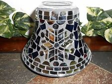 YANKEE CANDLE Snowflake MOSAIC Winter Glimmer JAR SHADE/TOPPER  LARGE Blue