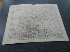 Antique Map GERMANY NORTHERN - From The College Atlas For Schools+Families 1860
