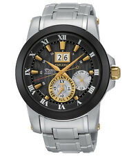 New Seiko SNP129 Premier Kinetic Novak Djokovic Special Edition Mens Steel Watch
