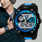 Fashion Men's Waterproof Alarm Sport Analog Digital LED Backlight Wrist Watch