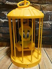 Plush TWEETY BIRD on Swing in Cage 1998 Warner Bros Play by Play Looney Tunes