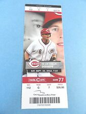 Cincinnati Reds vs Milwaukee Brewers 2012 Ticket w/Stub Sunday 7/22/2012