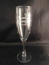 "Perrier Jouet Champagne Flute Glass HAND PAINTED POPPIES 8"" EXCELLENT CONDITION"