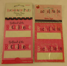 Bachelorette Party Name Tags, Girlfriend of the Bachelorette 26 tags NEW Package