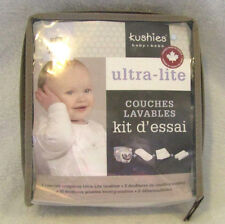 NEW Kushies Baby Ultra-Lite Washable Diaper Trial Pack~2 Diapers, Liners & more