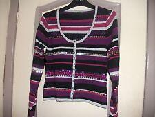 Purple/Black Multi Sequin Detail Cardigan, Size S, Karen Millen