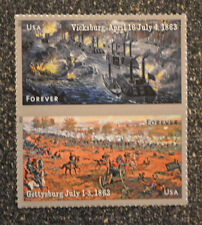 2013USA #4787-4788 Forever - Civil War - Vicksburg/Gettysburg Pair Vertical Mint