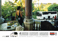 PUBLICITE ADVERTISING 014   1989   RENAULT  autobus FR1 GTX (2 pages) JO ALBERTV