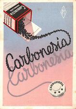 """CARTOLINA PUBBLICITARIA MEDICINALE """" CARBONESIA """" LAB. G. MANZONI 1953 17-79"""