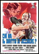 CHI HA IL DIRITTO DI UCCIDERE? MANIFESTO CINEMA CESSELON AZNAVOUR 1971 POSTER 2F
