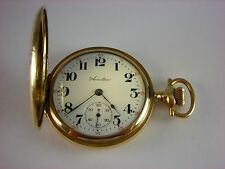 Antique original Hamilton 975 pocket watch 1918. Lovely decorated Hunter case