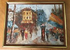 BARTON ORIGINAL Impressionist Oil Painting City Scene SIGNED BARTON