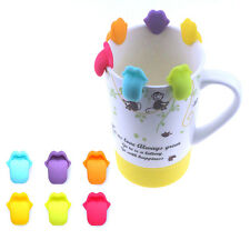 6pcs Glass Wine Cup Silicone Label Tag Marker Sucker Identification Tongue