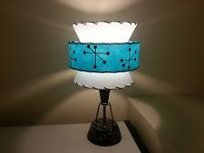 Mid Century Vintage Style Tapered 3 Tier Fiberglass Lamp Shade Modern Small
