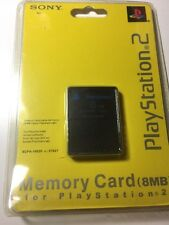 Sony Playstation 2 BLACK 8 MB Memory Card OEM Official Original NEW Sealed ps2