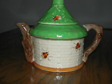 Small Teapot for One  Beehive Pattern Bees Made in  Japan Clover on bottom