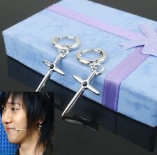 Korean Super Junior YESUNG Cross Black Bead Earrings SJ