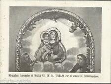 PUGLIA_TORREMAGGIORE_MADONNA DELLA FONTANA_STAMPA CON PREGHIERA_DA COLLEZIONE