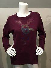 Lucien Pellat Finet Medium Cashmere Sweater Swarovski Crystal Snake w/ Wings