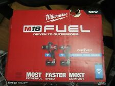 MILWAUKEE 2796-22 M18 FUEL ONE KEY 18v Li-ION BRUSHLESS CORDLESS COMBO ~NIB~ ( E